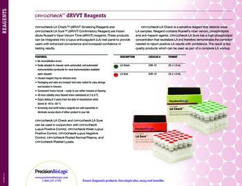 Cryocheck™ dRVVT Reagents