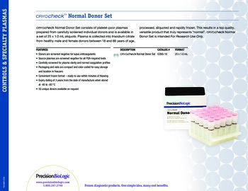 Cryocheck™ Normal Donor Set