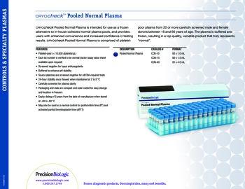 Cryocheck™ Pooled Normal Plasma
