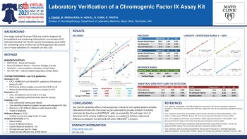 ISTH 2021 Laboratory Verification of a Chromogenic Factor IX Assay Kit