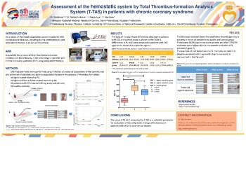 ISTH 2020 Assessment Hemostatic System Total Thrombus formation Analysis System