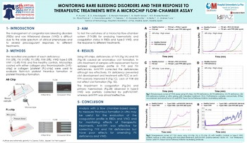 ISTH 2021 Monitoring rare bleeding disorders response therapeutic treatments microchip flow-chamber assay