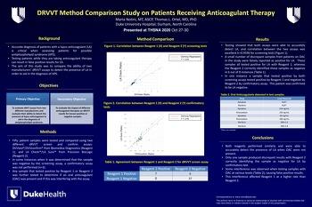 THSNA 2020 Étude comparative de méthodes sur des patients recevant un traitement anticoagulant